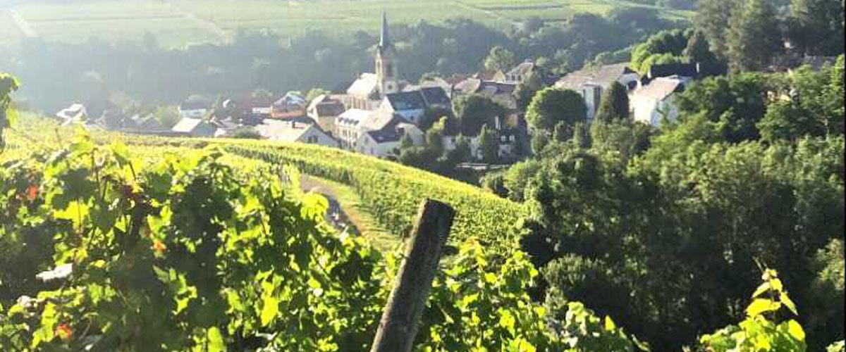 Blick auf Ahn in Luxemburg